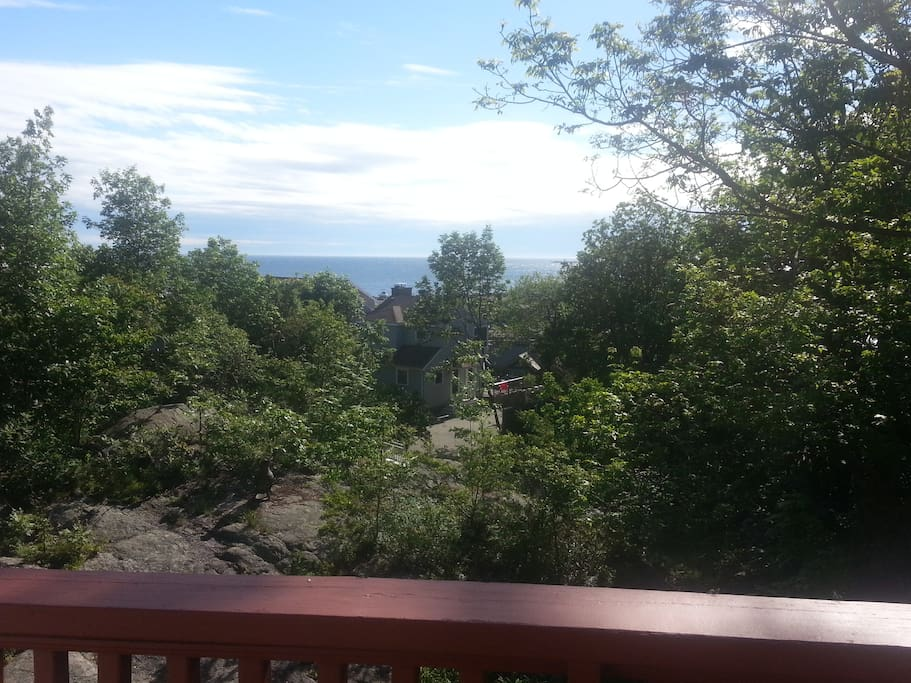 View of Granite Pier from the house deck