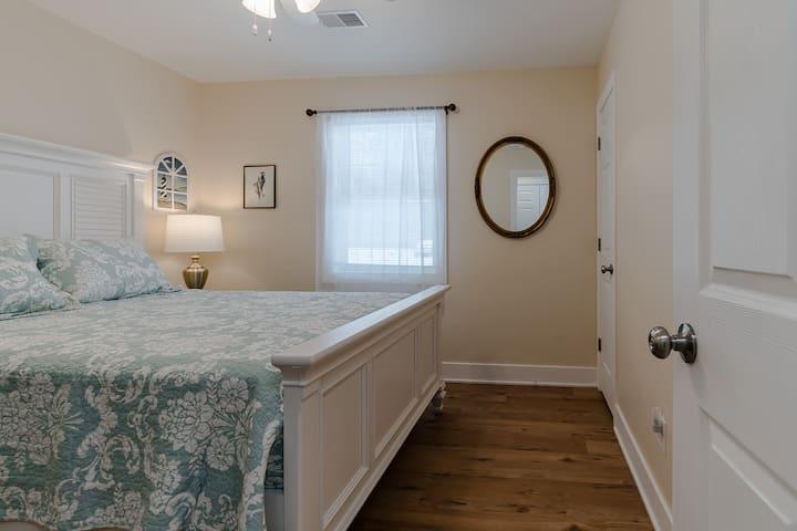 Queen bedroom 1, with closet and dresser (Bedroom 1 of 7)