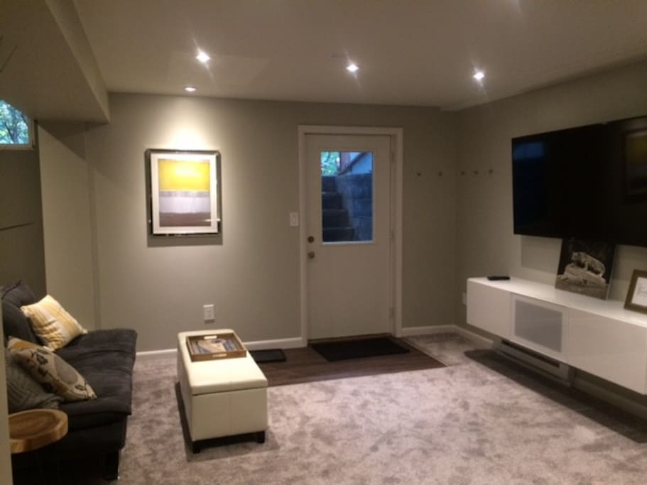 Private entry and living space