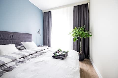 Stijlvol appartement in Warschau - gratis WiFi / parkeergelegenheid:)