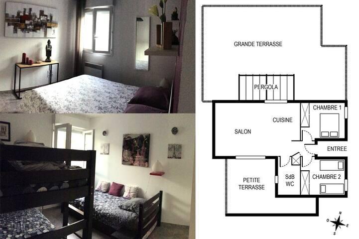 2 chambres et plan