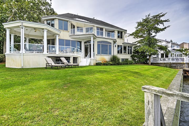 Riverfront 7BR Point Pleasant House w/Water Views!