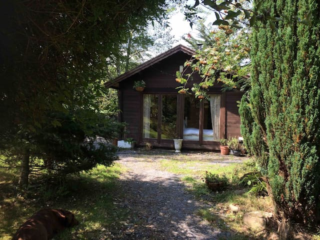 Idyllic log cabin at the foot of Snowdon