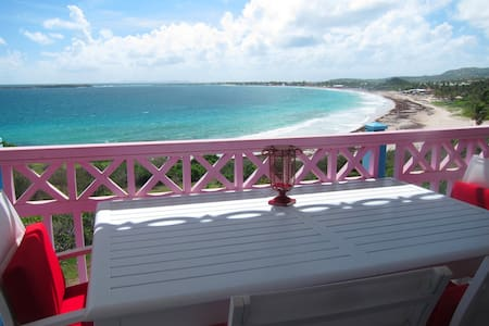 Beachfront oceanview Antigua studio - Orient Bay