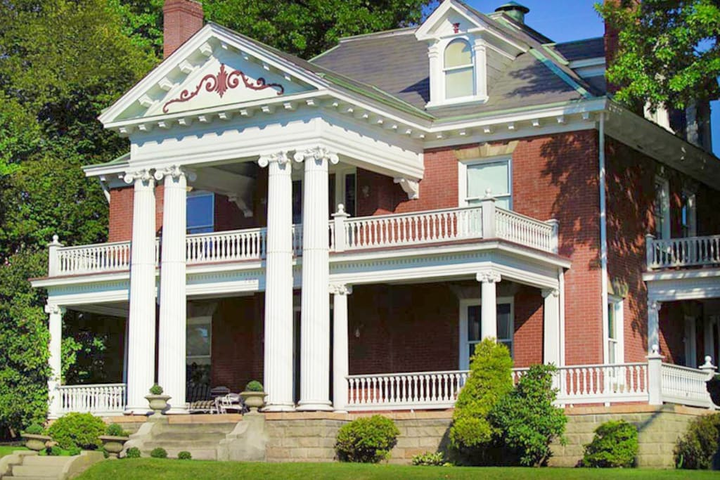 Beautifully restored, this 1904 mansion took the 2016 Westmoreland County preservation award!