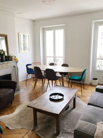 Sunny typical Parisian apartment