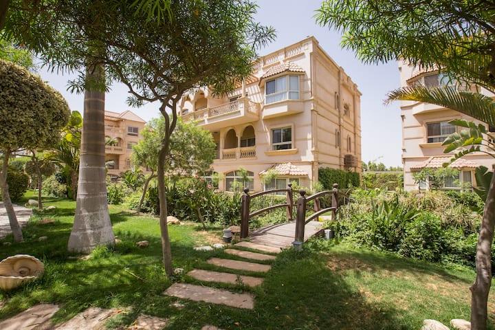 2 Bedroom garden view at El Safwa Resort