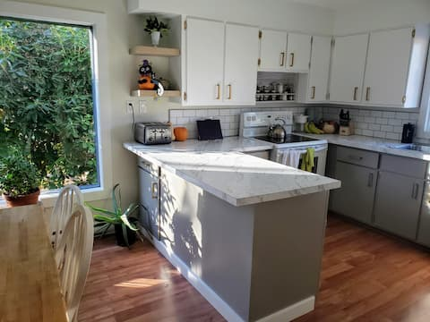 Clean home, large private yard and ample parking