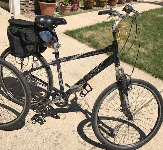 The Treks have panniers available for any purchases you make in town.