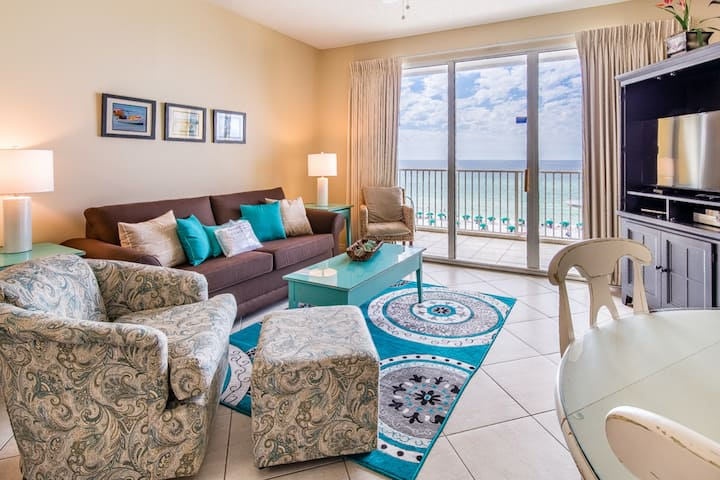 6th Floor Condo, 2 Beach Chairs Included, Quick Drive To Dining