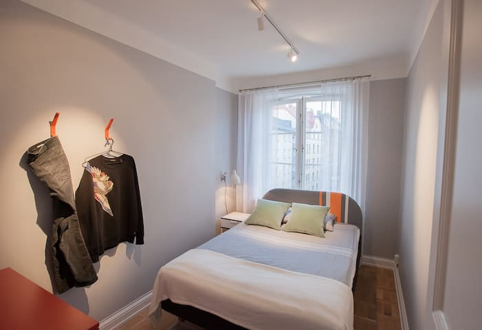 Cosy bedroom in fresh central apartment