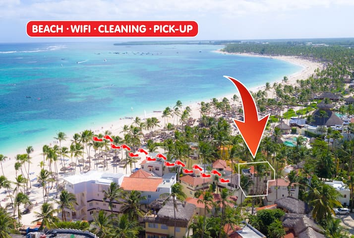 Beach Villa Monica 5 guests + WiFi - Cap Cana - Villa