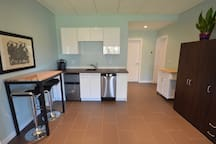 Kitchen with dining.