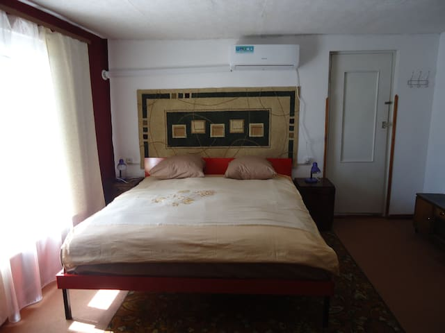 King size bed .