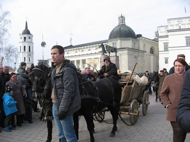 Spring fair at the Cathedral square