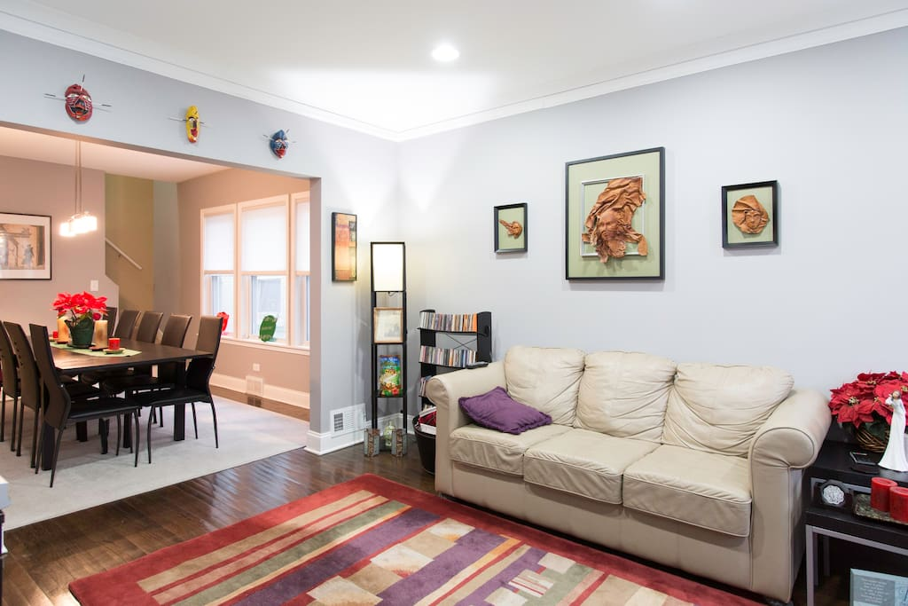 Living Room is a gathering room for conversation, relax or watch movies.