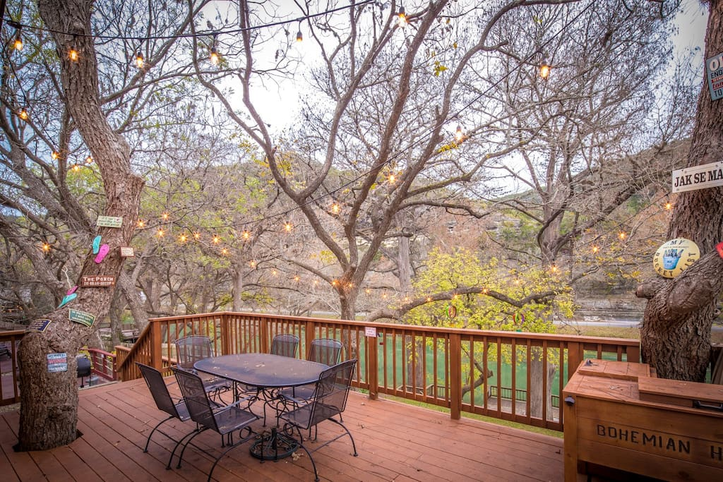 Beautiful Deck Overlooking the Guadalupe River