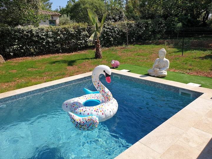 Villa Parpailloun, jardin, piscine