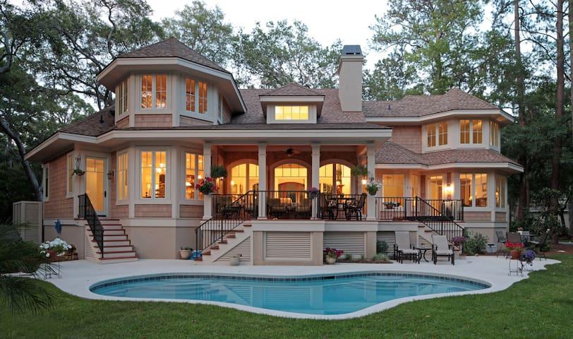 Beautiful Sea Pines Home with Lagoon and Golf View - Hilton Head Island - Huis