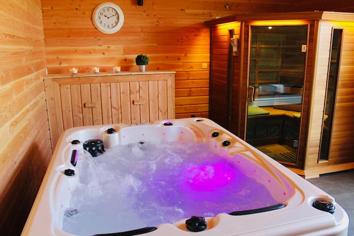 Duplex avec accès jacuzzi et sauna privatif🌞