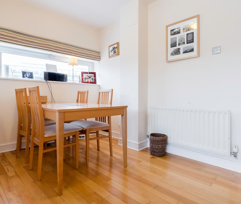 The dining space with plenty of room for 4 people