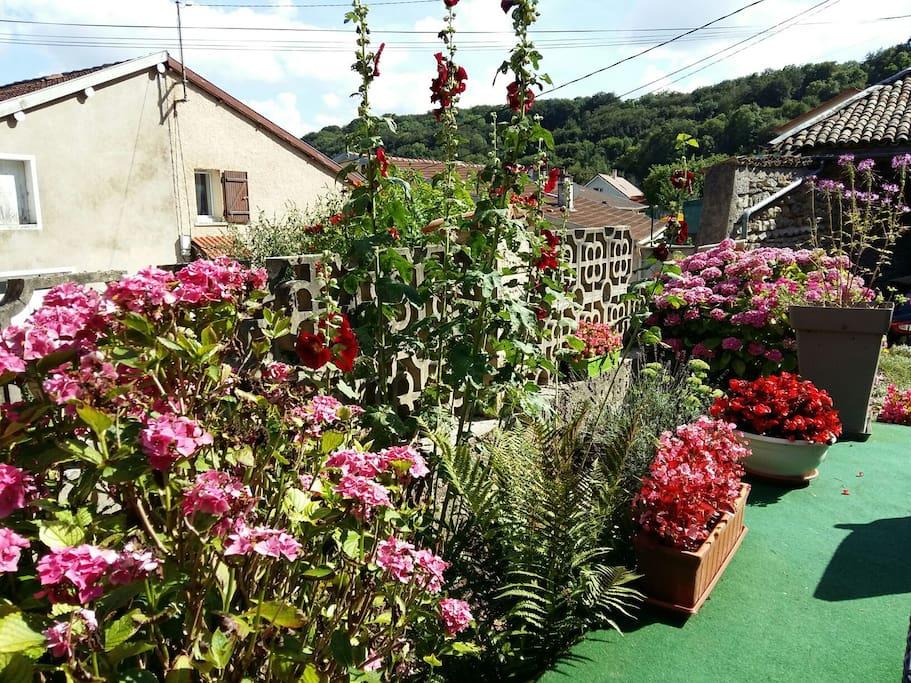 Jardin tres fleuri