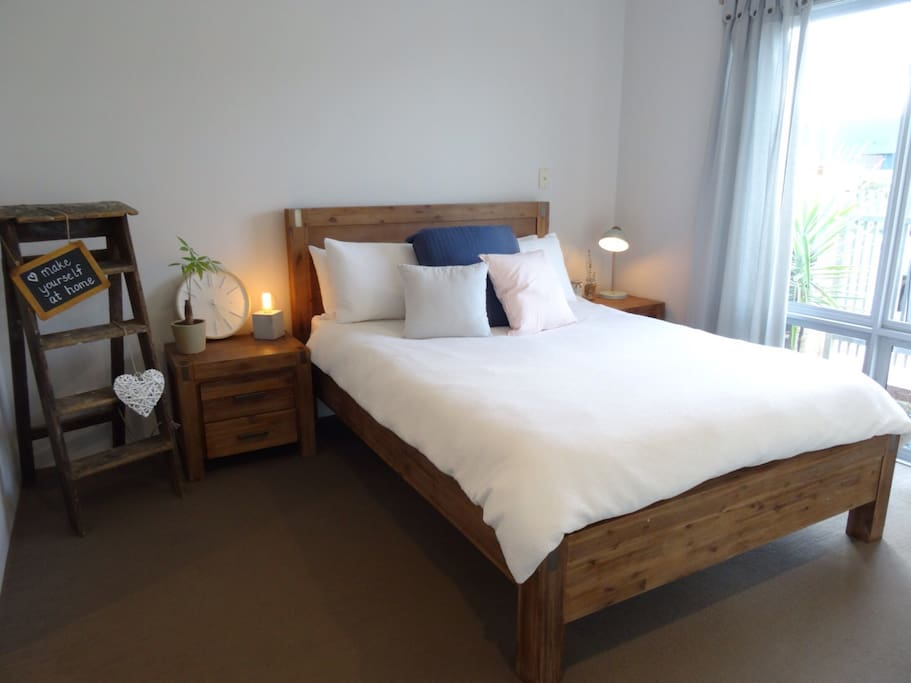 Master bedroom with ensuite, walk in wardrobe, TV and DVD player