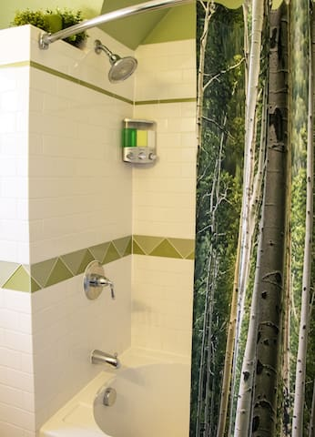 Enjoy a hot shower or bath after a long day of fun and adventure.