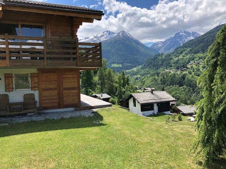 Appartement avec vue, terrasse, jardin / Anniviers