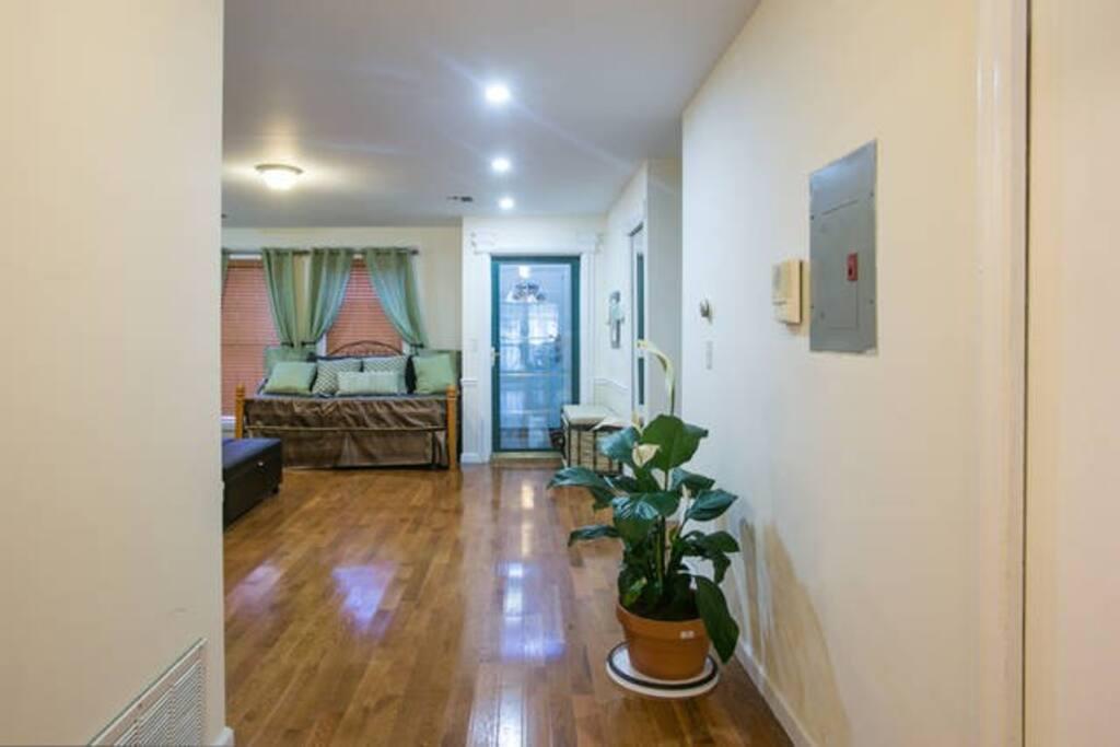 Living room hallway.