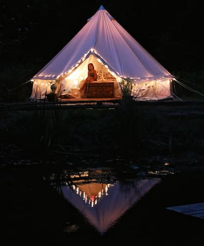 Glamping by the Pond on Salt Spring Island