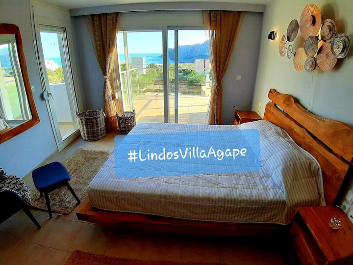Lindos Villa Agape near to Sant Paul's bay