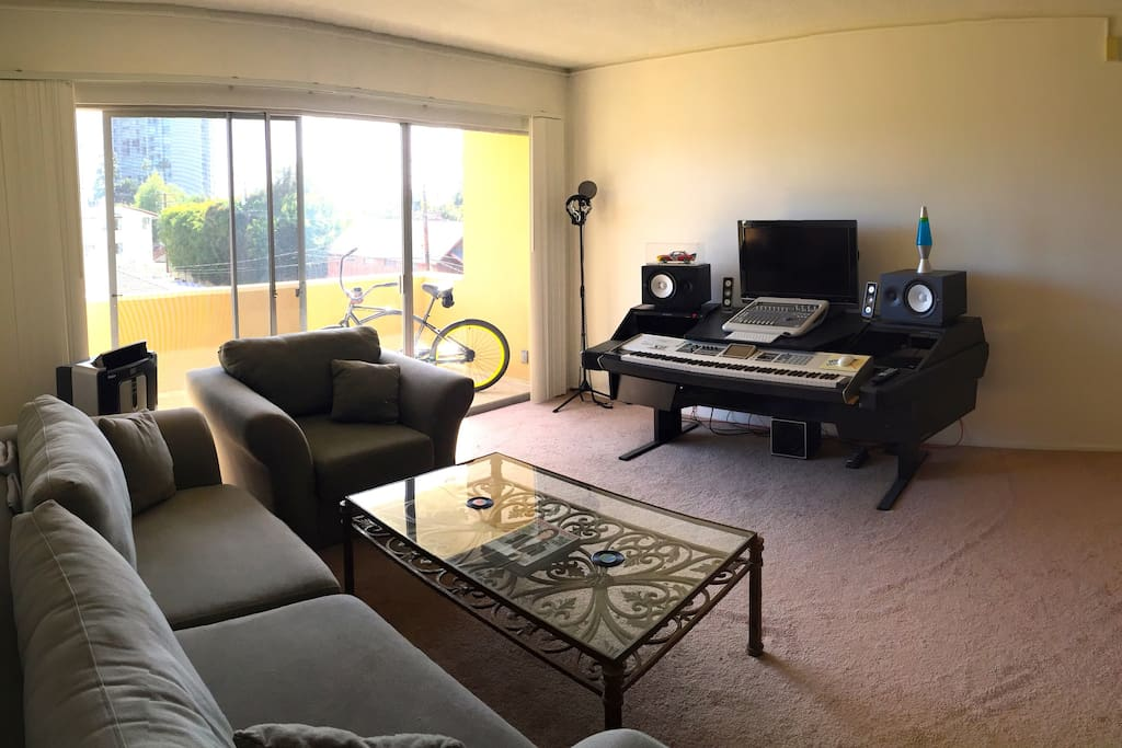 The living room. Feel free to relax, watch a movie or even make some music.