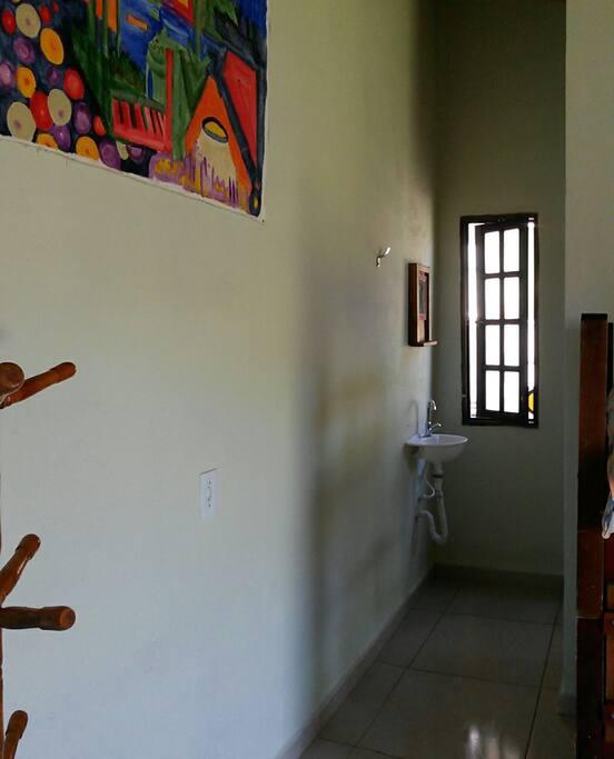 Entrada do banheiro privado