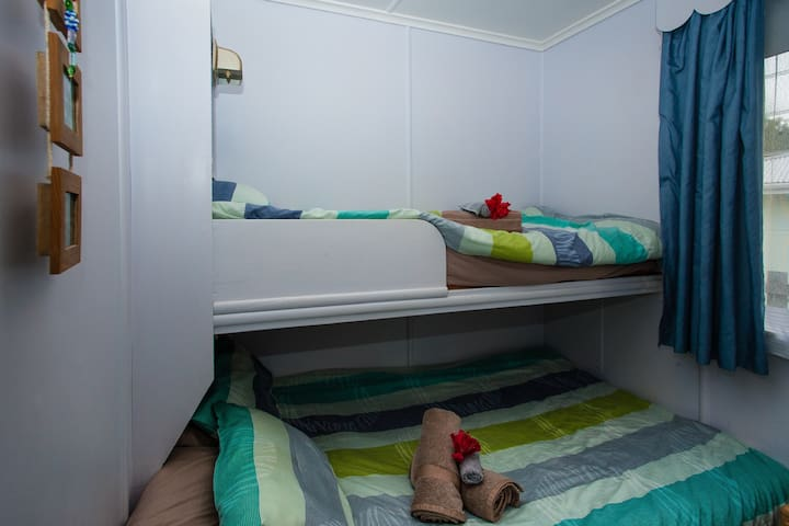 Double Bunk with single on top Kiwi Classic -   Matapouri Holiday Home