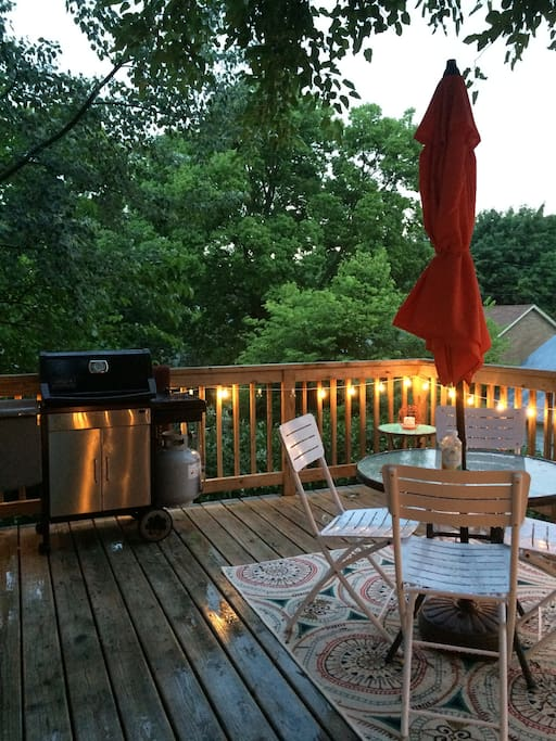 Deck - Grill available for guest use.