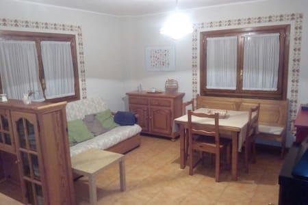 Espaciosa habitación-salón-comedor con estufa leña - Villanúa