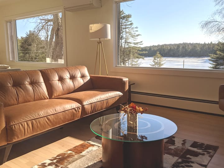 Catskills Private Modern Lakehouse 3BR + Studio
