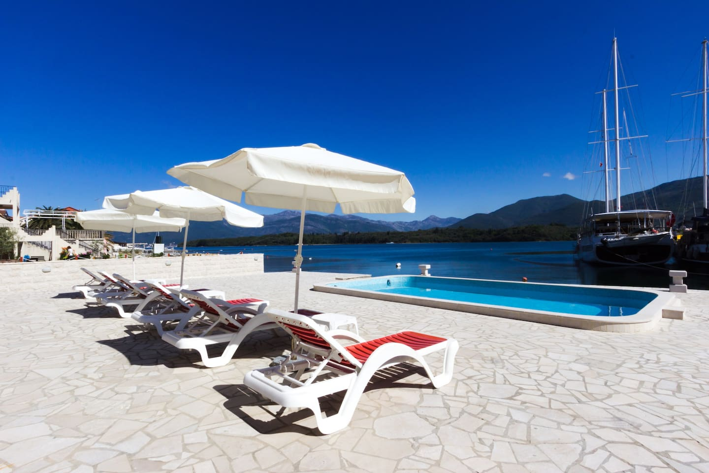 You can pick your own place to rest and relax near the swimming pool pool and beautiful Adriatic Sea!