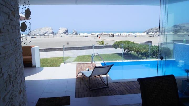 Las Palmeras, Perú - Casa de Playa Primera Fila