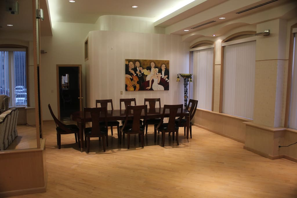 Grand room dining area