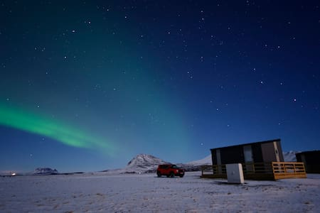 Afternoon cottages near Hekla - (Nr. 4)