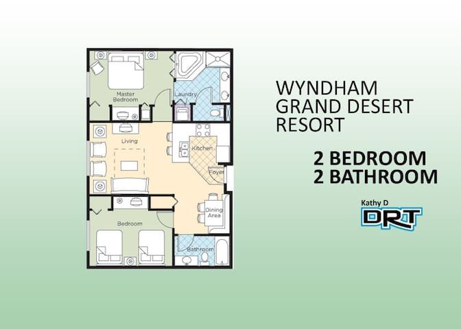 ☀2Br☀ Wyndham Grand Desert Resort AA3-IB
