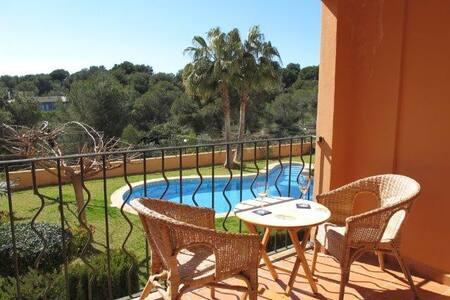 Apartamento con terraza y jardin - Vallgornera Lluc Mayor - Lejlighed