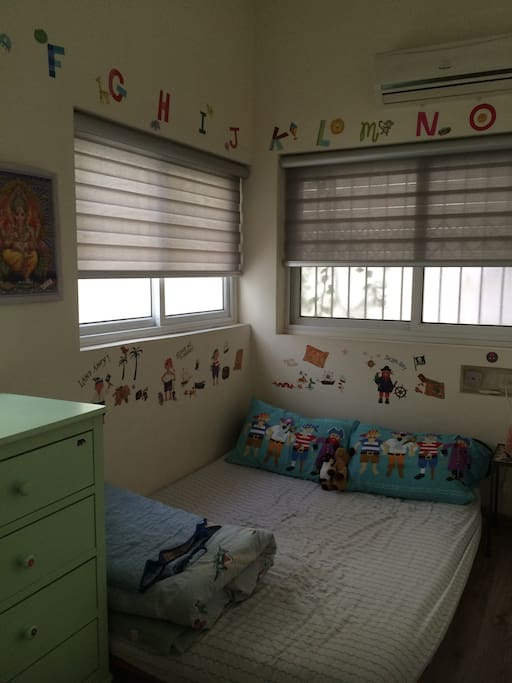Child's room with double bed
