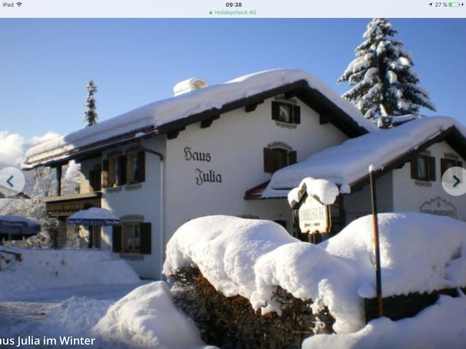 Haus julia im winter