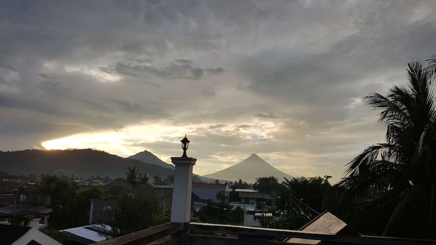 Mayon view during sunset