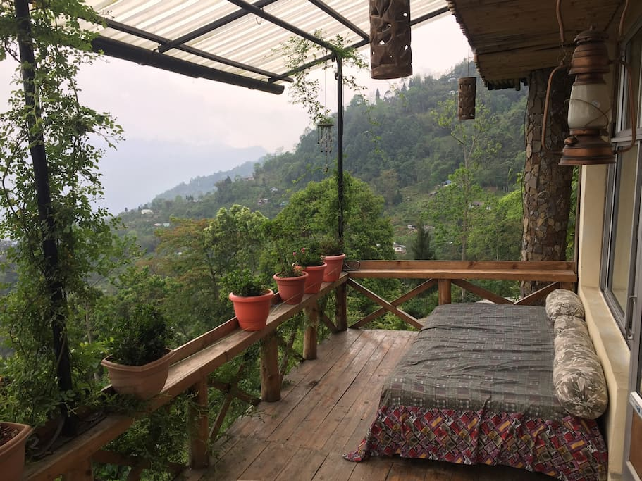 Private wooden deck with stunning views