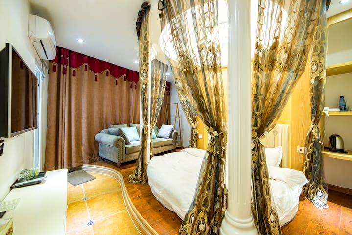 【Hansu Inn】Forest Park/Xibu Street/Round bed room