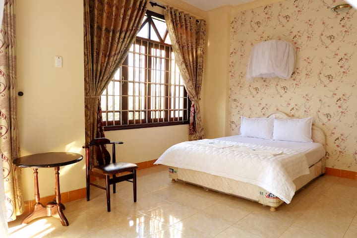 VIP room with 2 comfortable beds and a nice view airy balcony